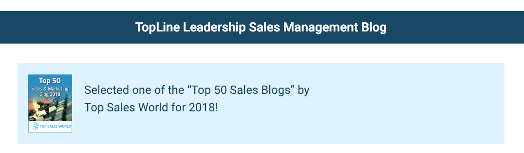 est sales blog - Topline Leadership