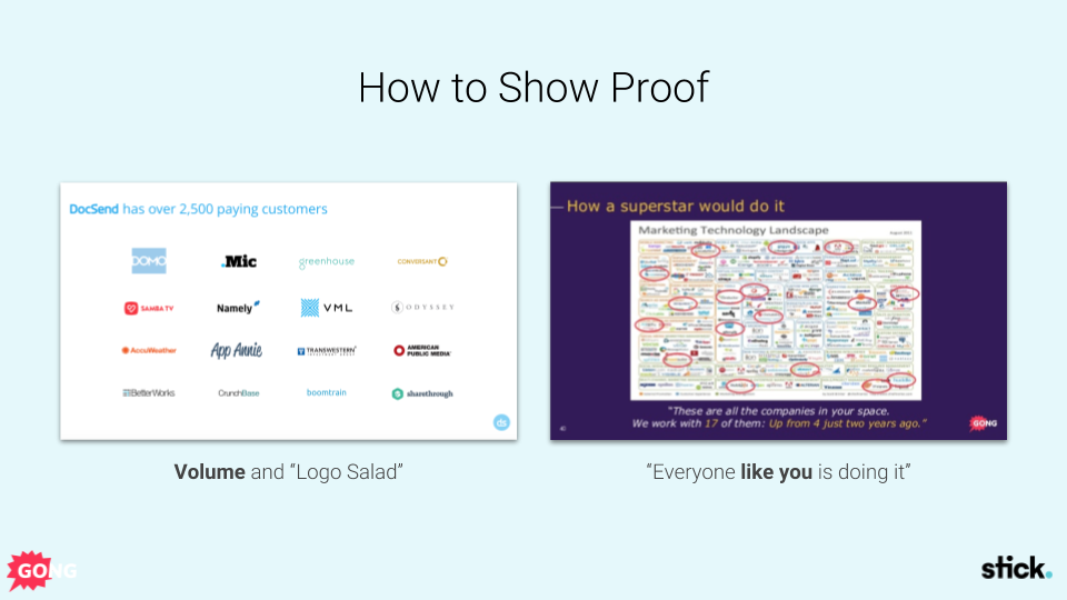 Sales presentation proof