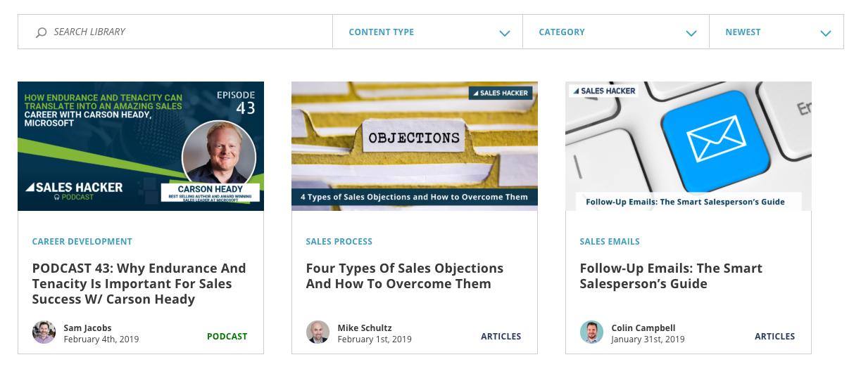 sales hacker sales blog