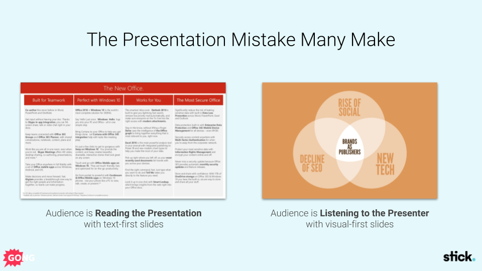 Sales presentation mistakes