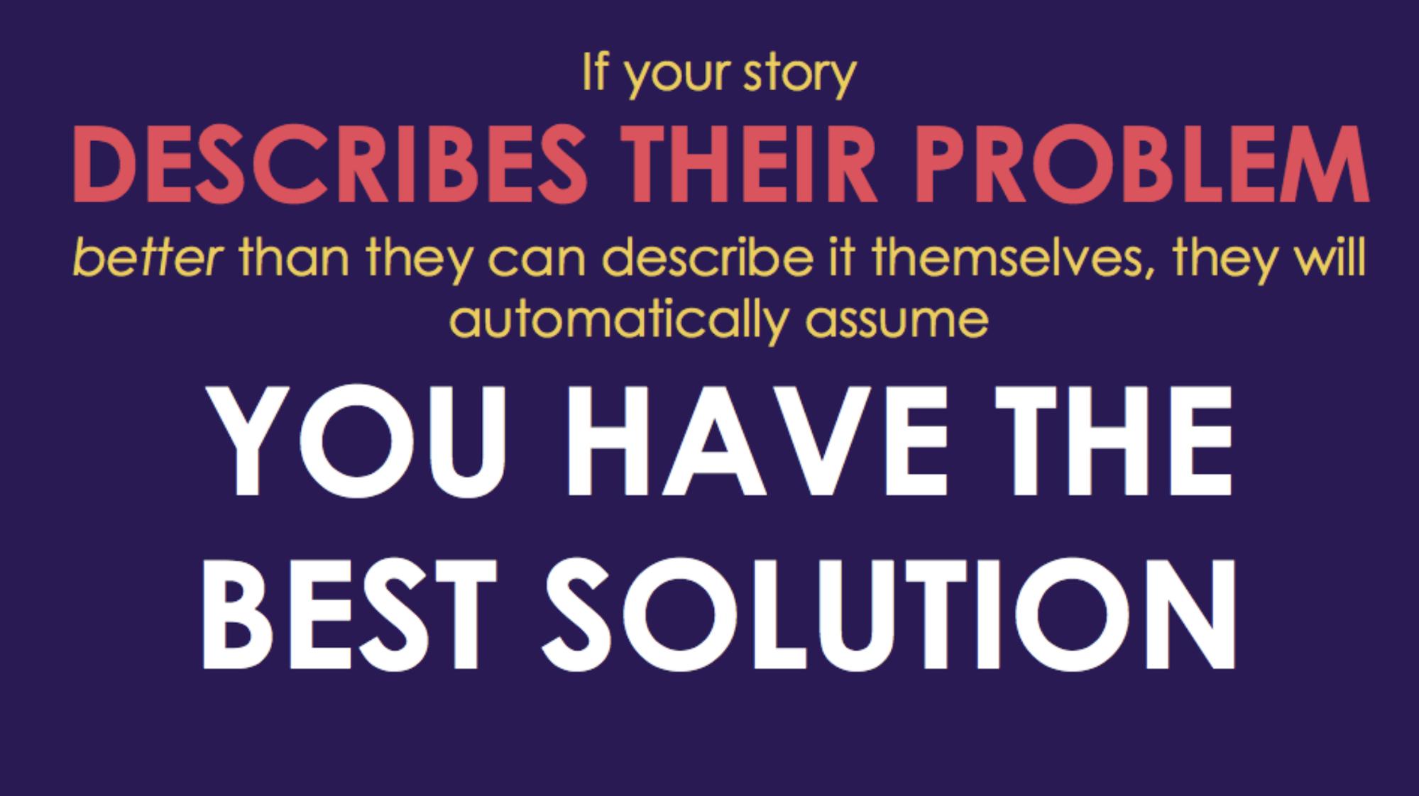 Describe the problem sales tip