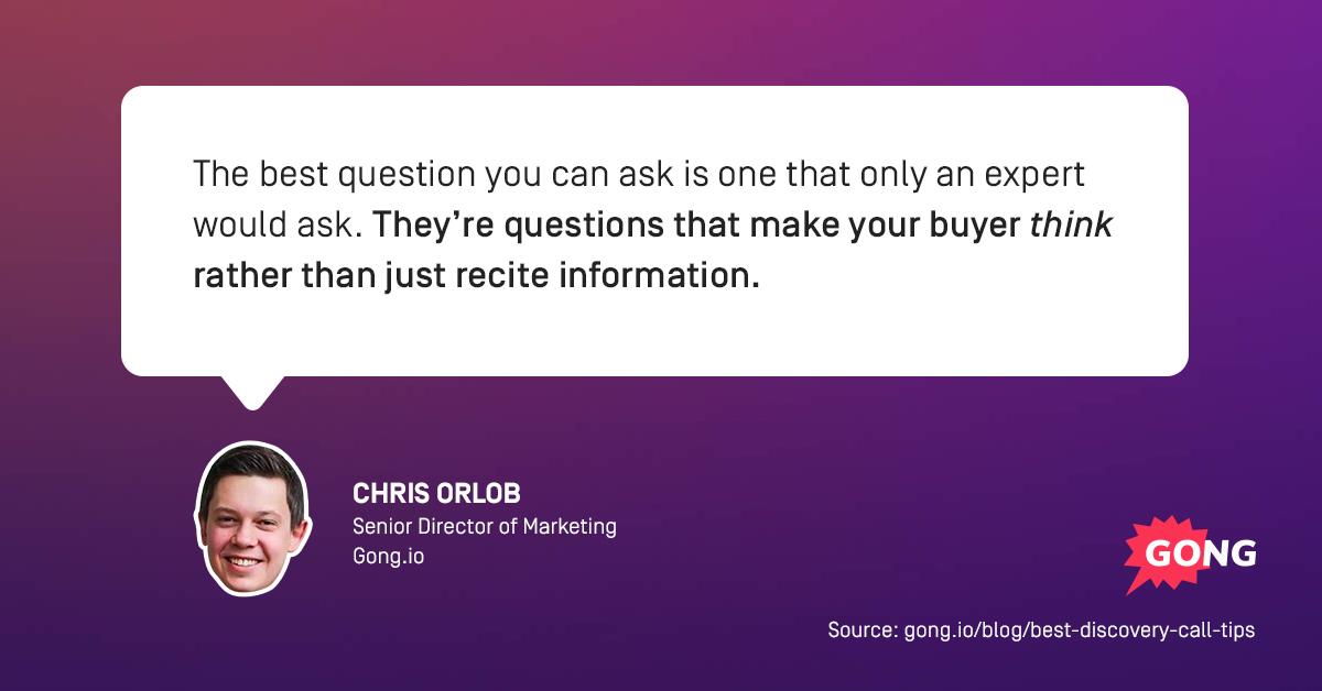 discovery call tips chris orlob