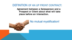 Definition of an up-front contract